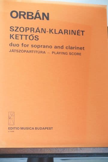 Orban G - Duo for Soprano and Clarinet